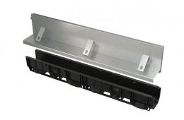 Kanal sa 160 mm asimetričnim nastavkom i upojnim prorezom, pocinčani/inox