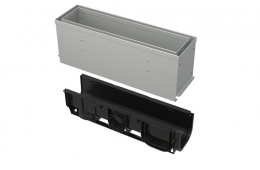 Kanal sa 160 mm asimetričnim pristupnim poklopcem s prorezom, pocinčani/inox