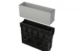 Sabirnik sa 160 mm asimetričnim pristupnim poklopcem s prorezom, pocinčani/inox