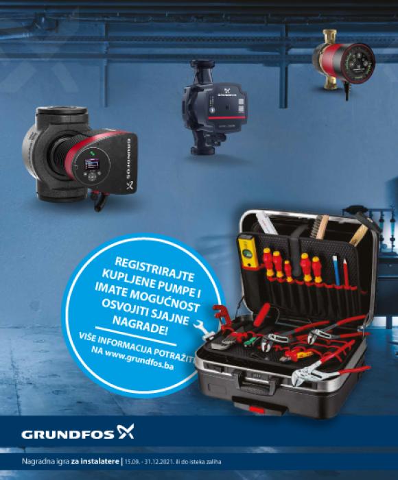 Kupite Grundfos cirkulacijske pumpe i imate mogućnost osvojiti KNIPEX alat!
